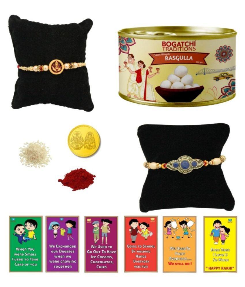BOGATCHI Assorted Box Rakhi Gift for Brother Rakhi with Sweets 500 gm