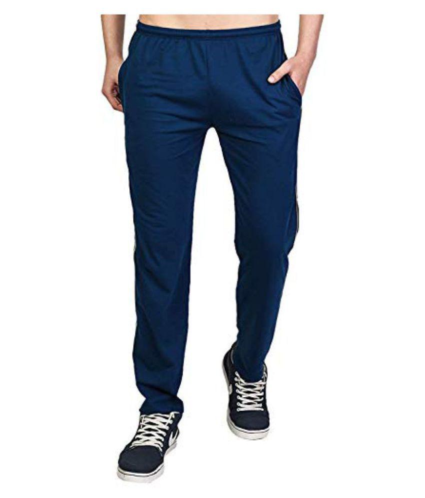 Khushi Creation Blue Cotton Trackpants