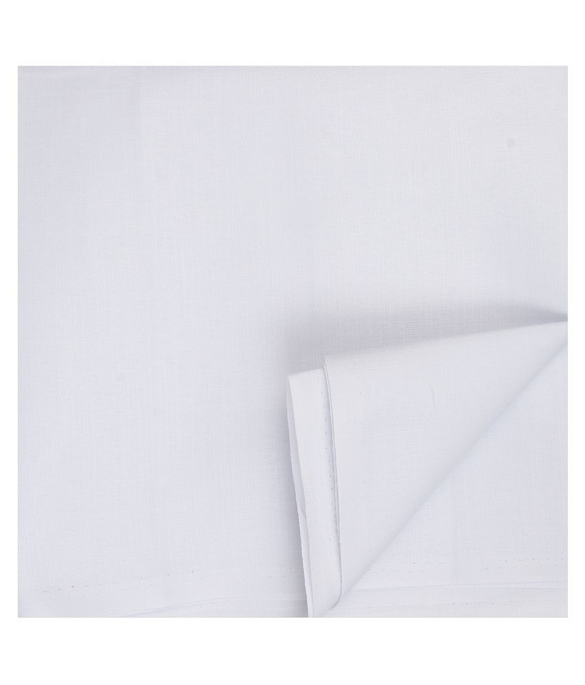 Maharaja White 100 Percent Cotton Unstitched Shirt pc