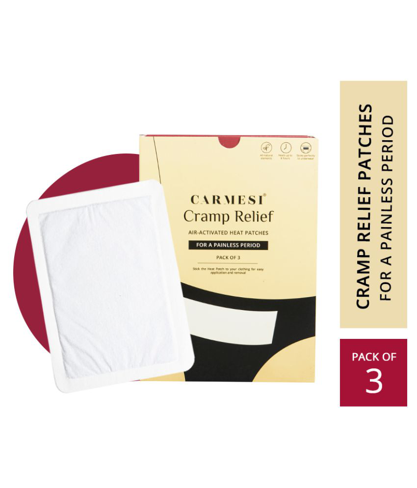 Carmesi Cramp-Relief Patches for Period Pain - Instant Relief up to 8 hours - All-Natural Ingredients (3 Patches)