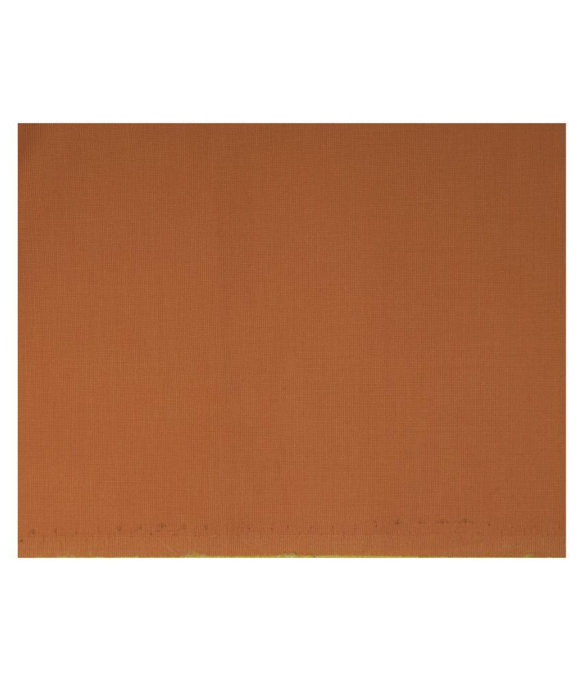J Hampstead Orange 100 Percent Cotton Unstitched Shirt pc