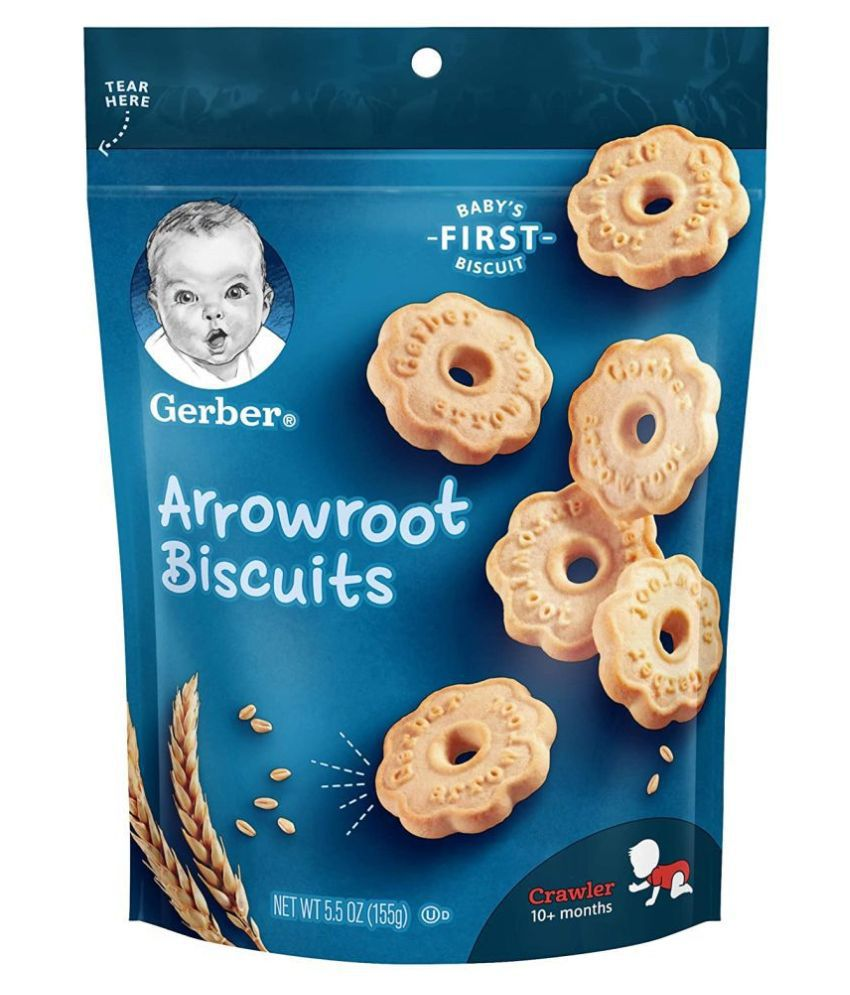 HERB GERBER ARROWROOT Biscuits for 6 Months + ( 155 gm )