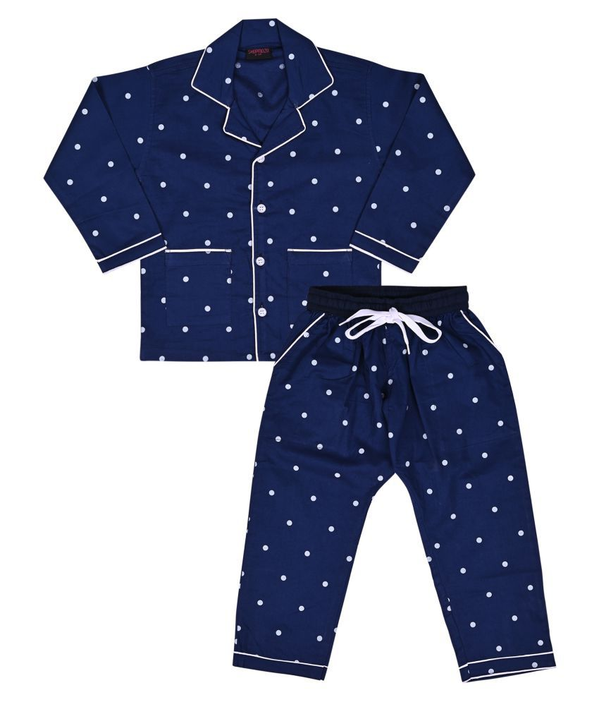 Shopmozo Unisex Night Suit Pajama Top Combo Set for Boys and Girls