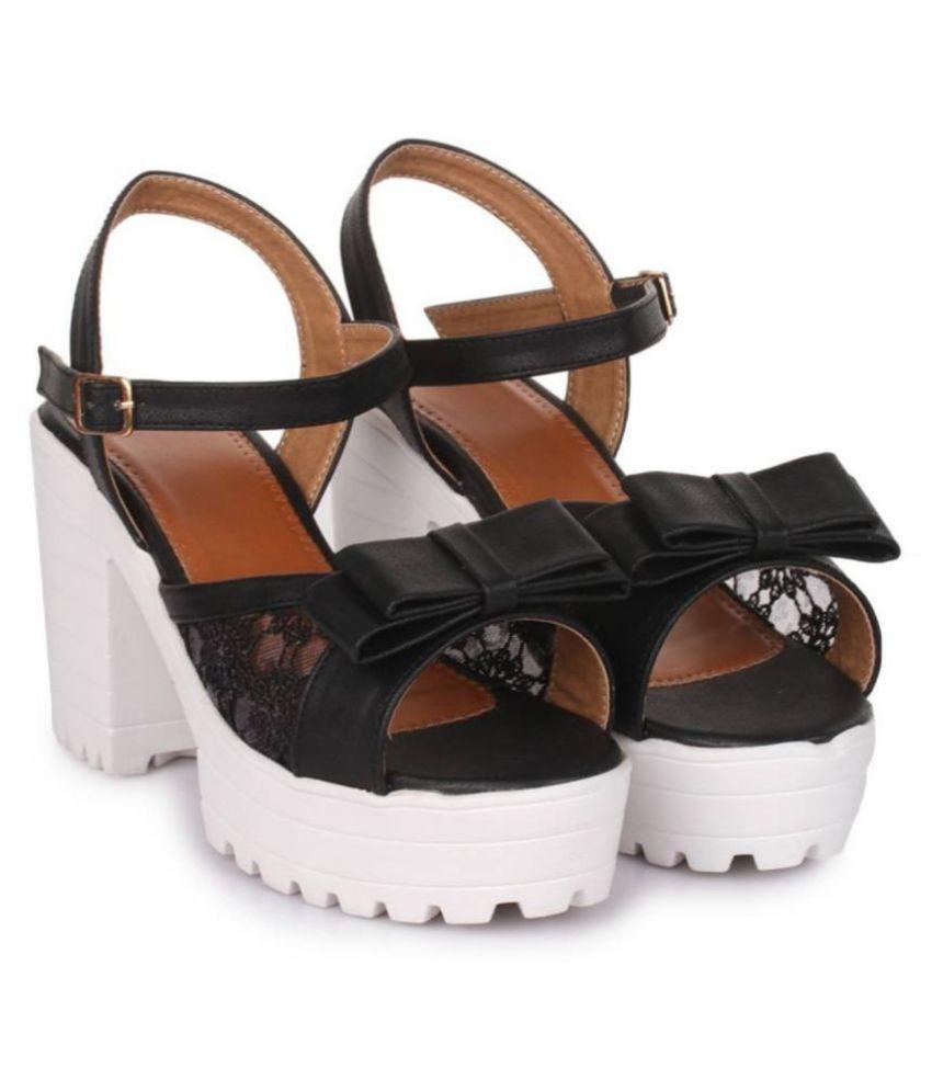 Footster Black Block Heels