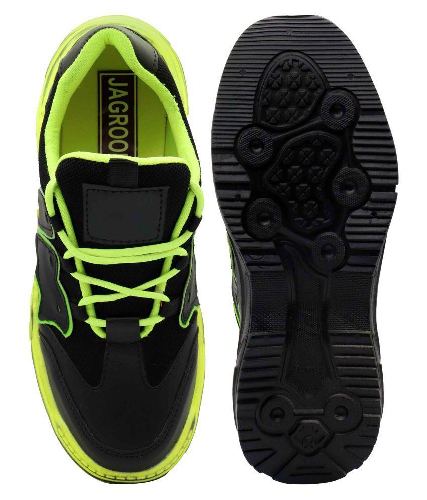 JAGROON RUNNER Green Training Shoes