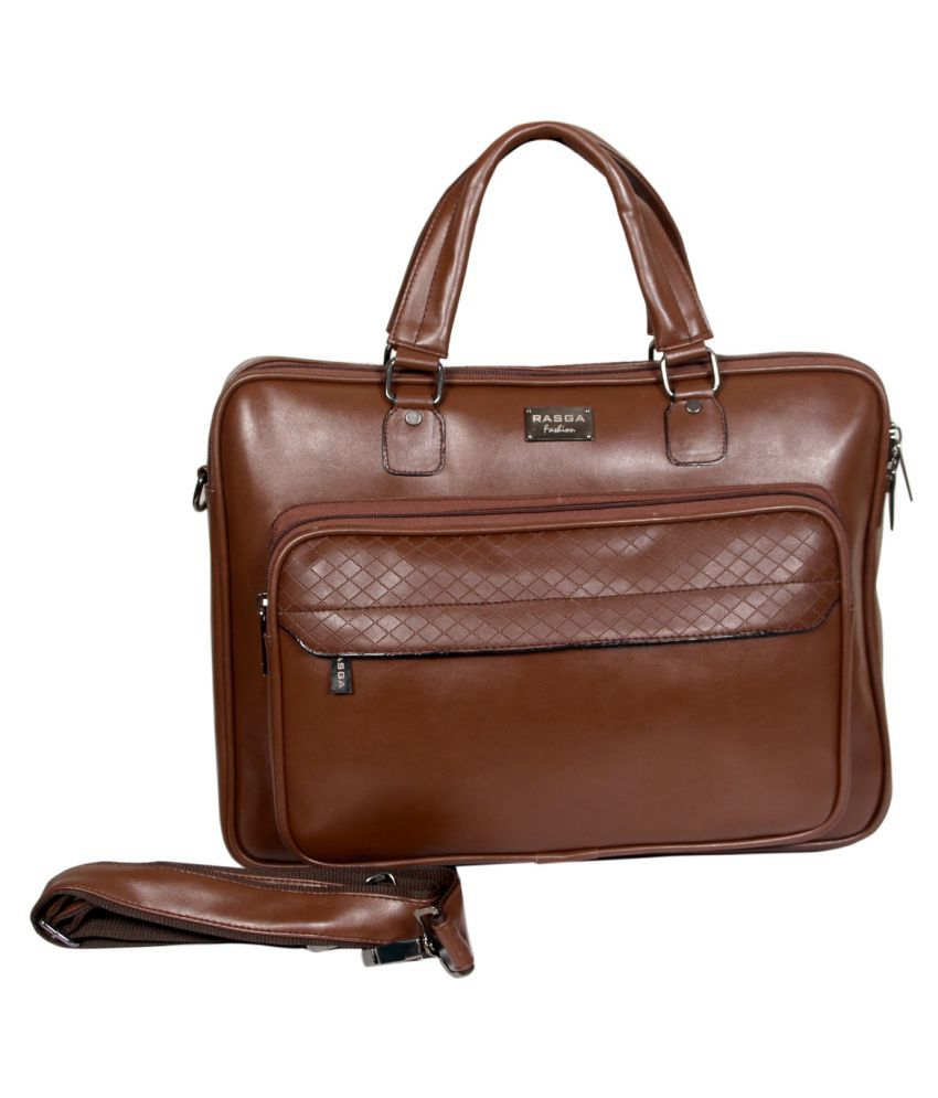 Rasga Brown P.U. Office Bag