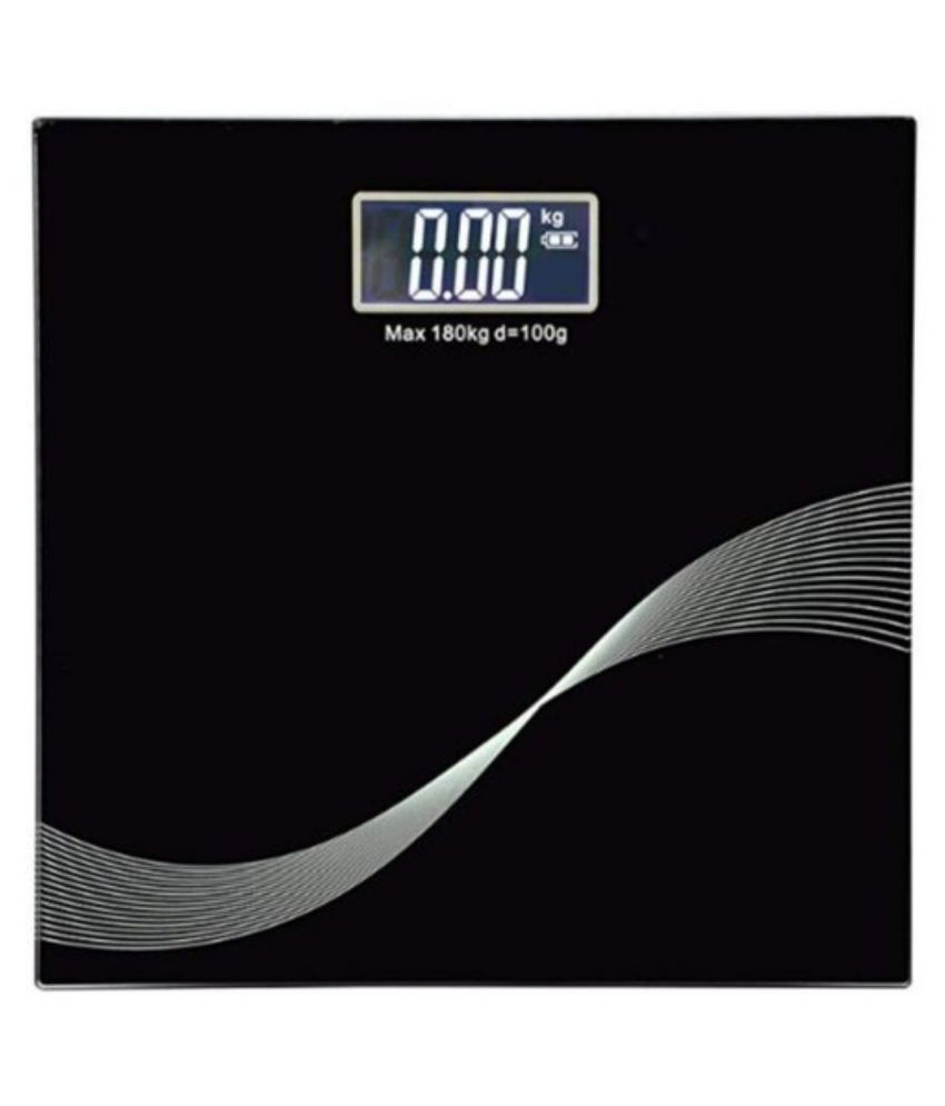 sakshi enterprise Electronic Thick Tempered Glass & LCD Display Digital Personal Bathroom Health Body Weight Scale 1