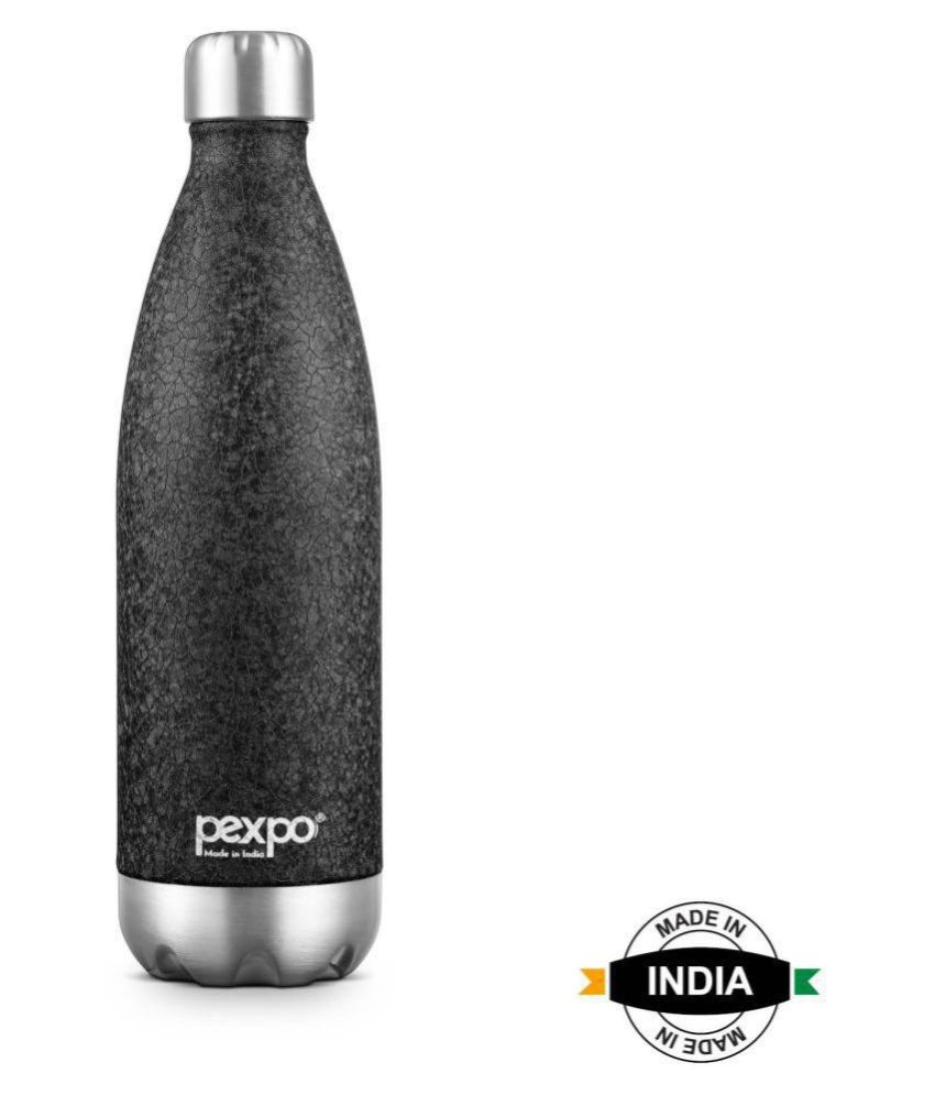 Pexpo na Black 1000 mL Stainless Steel Cola Bottle set of 1