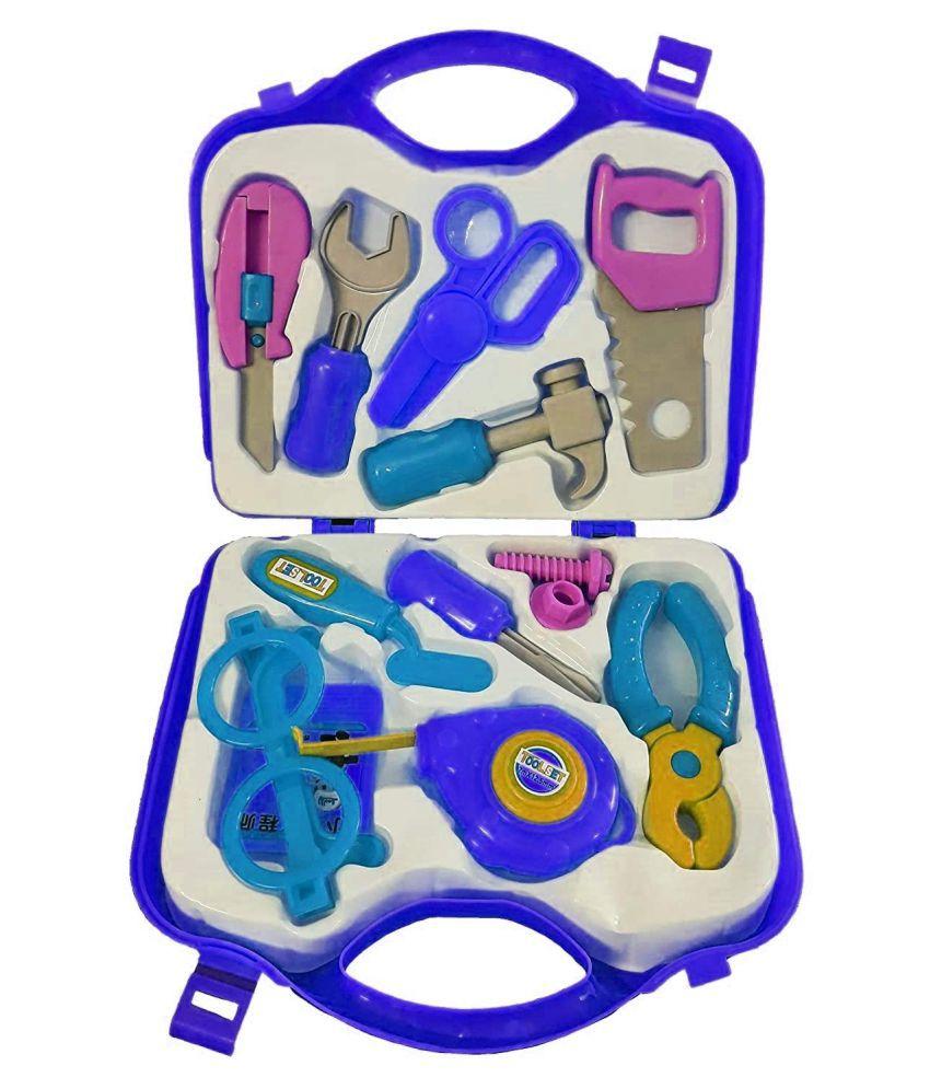 Villy  Plastic Mechanix Suitcase Tool Kit Toy Set for Kids (Multicolour) - 12 Tools