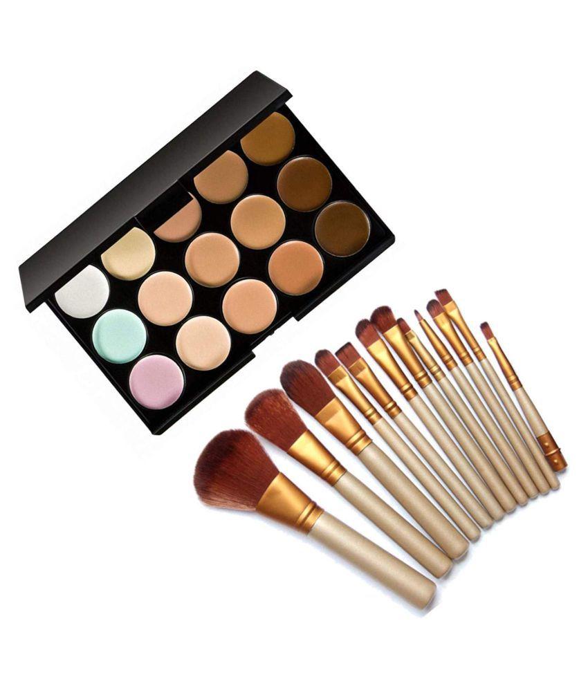 Lenon Beauty Naked Brush With 15 Cream Concealer Multi Medium Pack of 2 15 mL