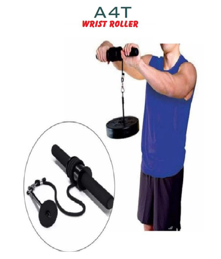 A4T Forearm Strength Trainer Arm Triceps Blaster Wrist Roller Gym Fitness Equipment Biceps Strengthener Hand Gripper Weight