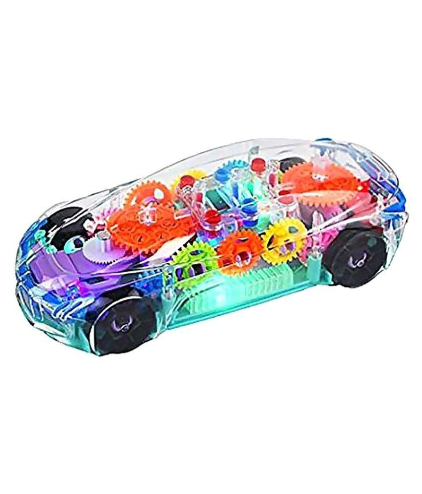 3D Super Car Toy, Car Toy for Kids with 360 Degree Rotation, Gear Simulation Mechanical Car, Sound & Light Toys