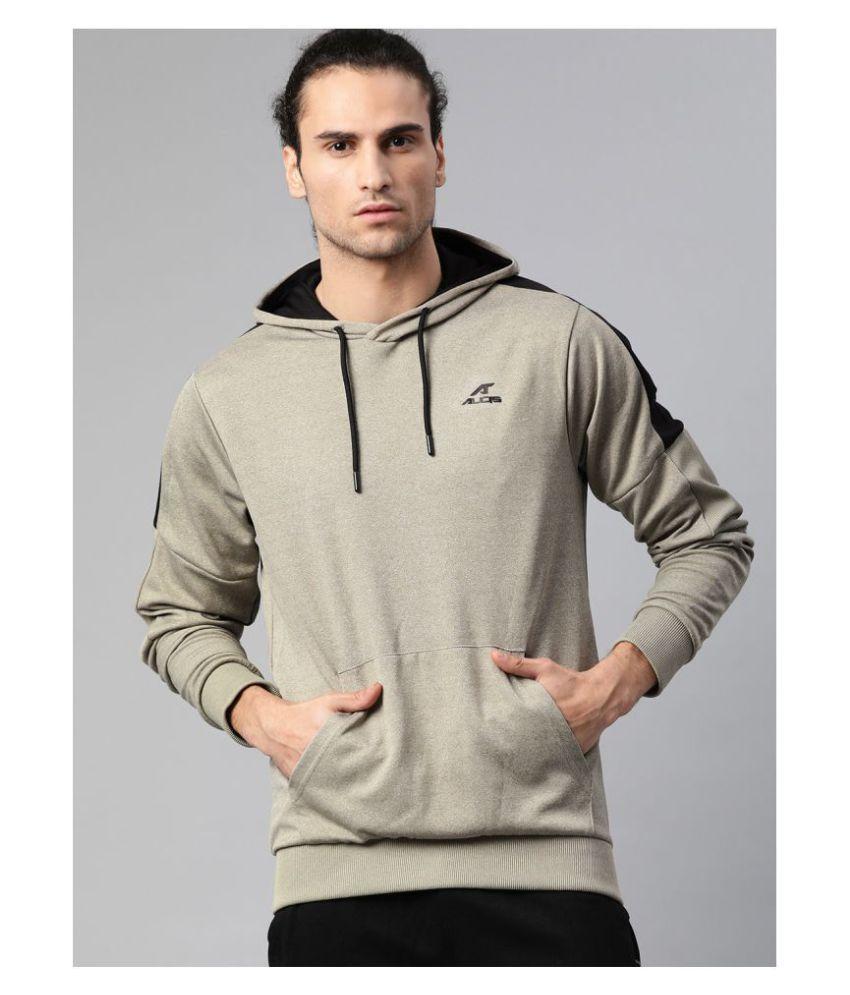 Alcis Olive Polyester Sweatshirt