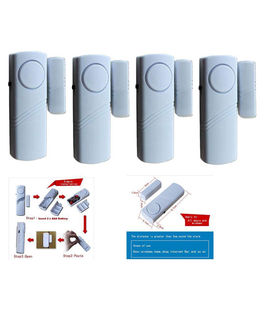 Jenix Wireless Door Window Open Alarm Home Security System Siren- Set of 4 JXL3A4