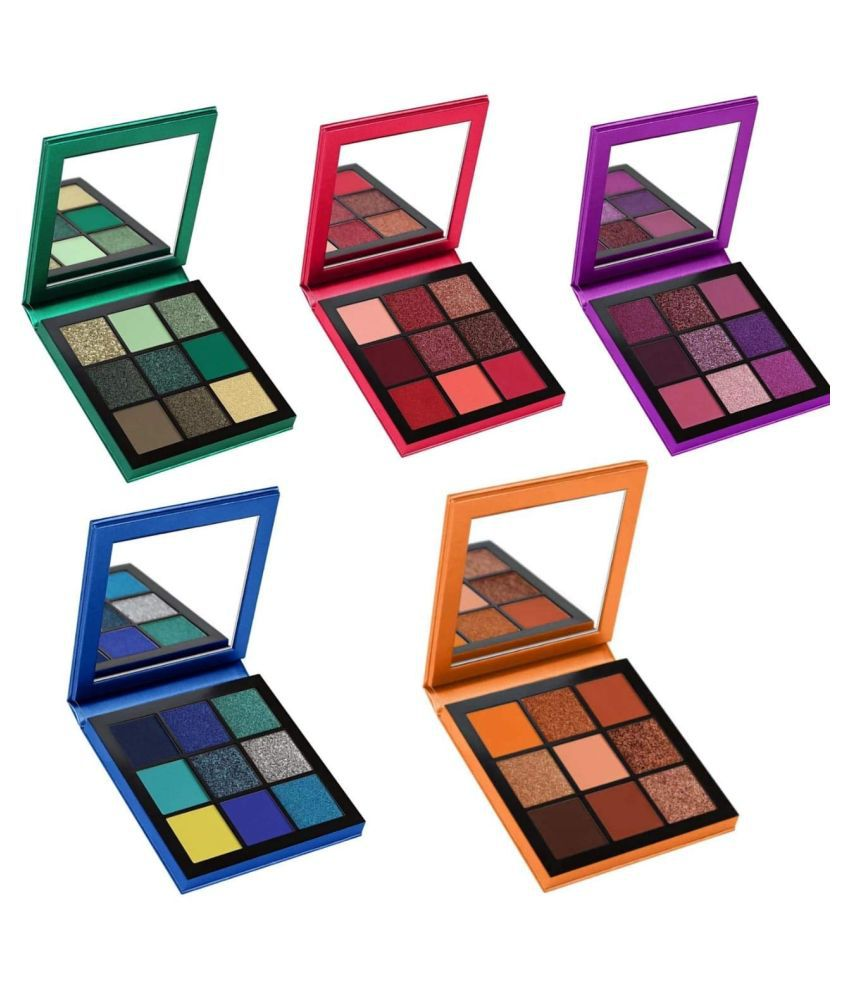 Lenon Beauty Obsessions Eye Shadow Pressed Powder Colours 15 g Pack of 5