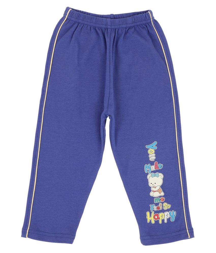 Bodycare Kids Infant Girls Blue Printed Track Pant