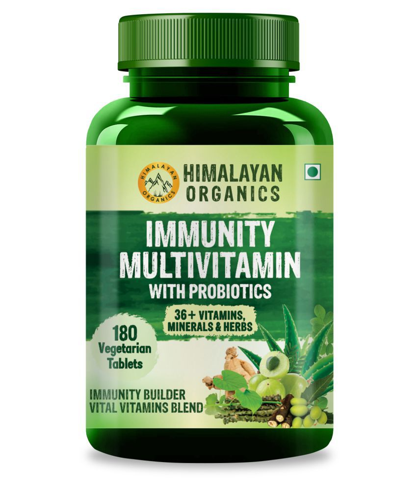 Himalayan Organics Immunity Multivitamin with Probiotics 180 no.s Multivitamins Tablets