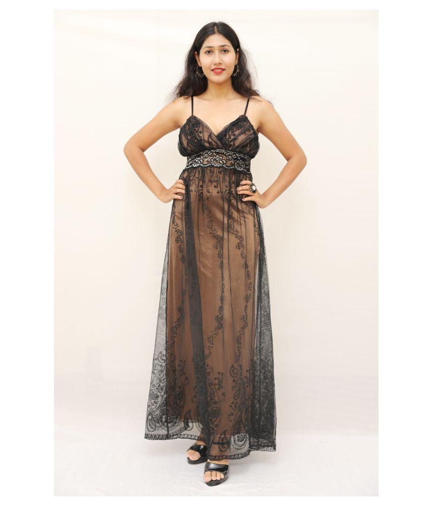 ARRICK FASHION Polyester Black A- line Dress -
