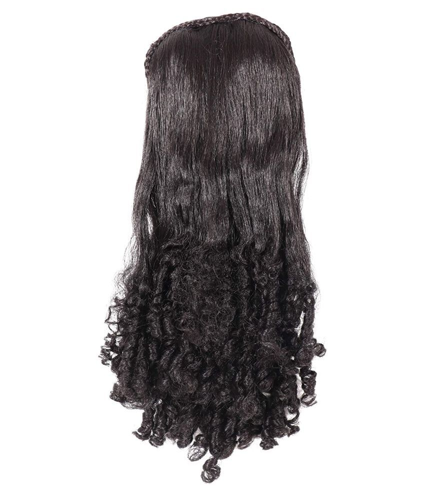ASG Curly Clip In Hair Extension 24 Inch Brown