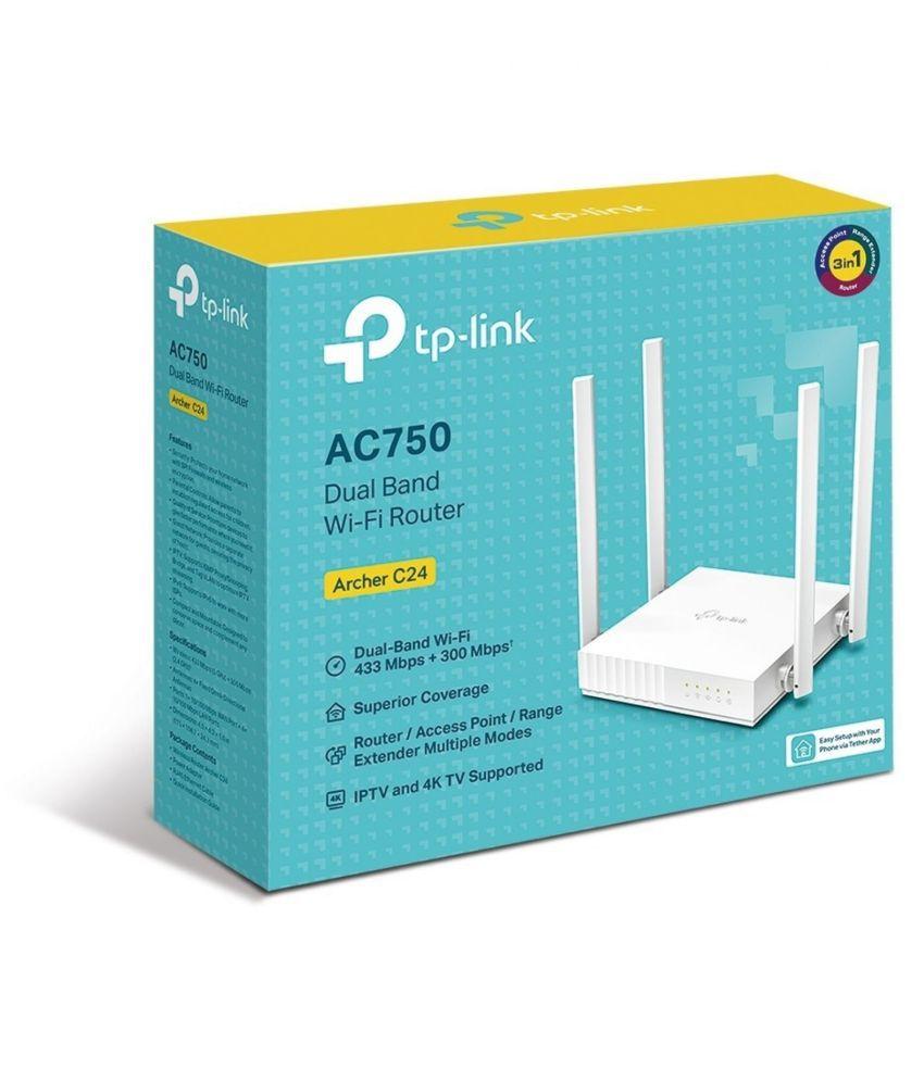 TP LINK Archer C24 750Mbps Router With Modem