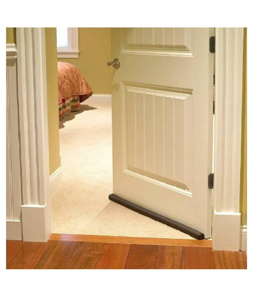 Under Door Draft Guard Cover Stop Light Dust Cool Air Escape Protector Pack of 1 Floor Mounted Door Stopper  (Brown)