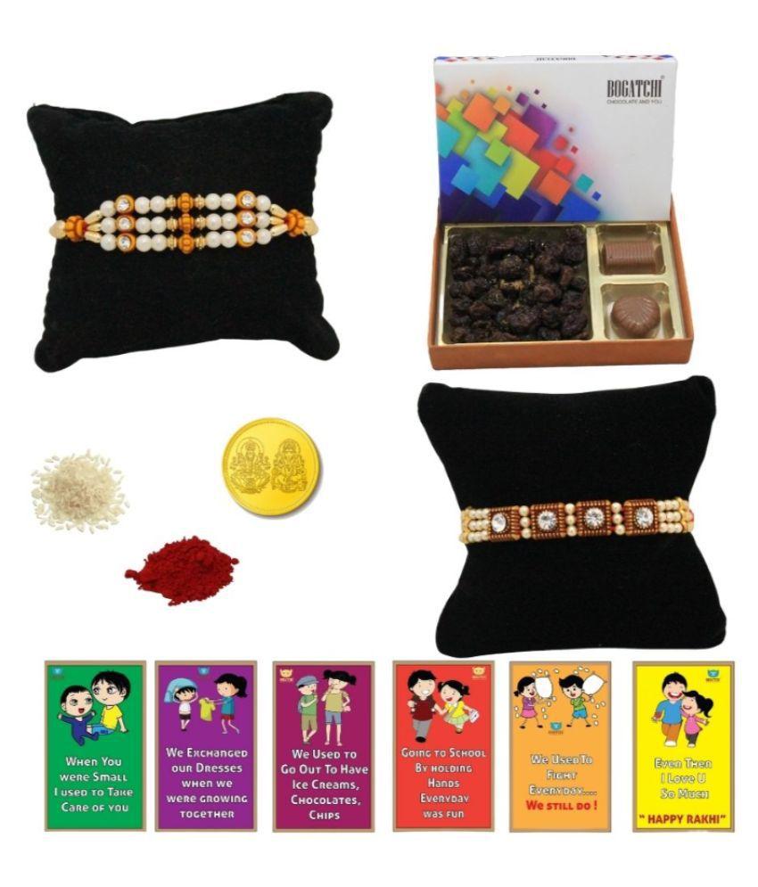 BOGATCHI Assorted Box Rakhi Gift for Brother Rakhi Chocolates 200 gm