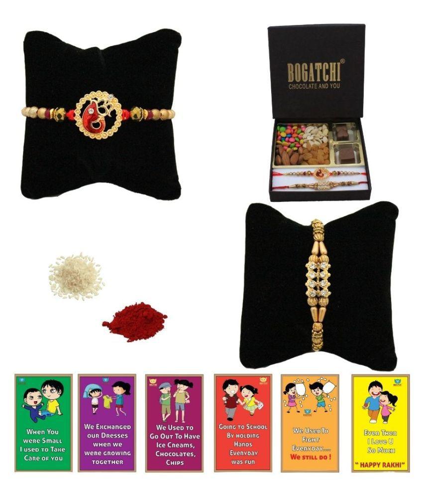 BOGATCHI Assorted Box Rakhi Gift for Brother|Rakhi Chocolates 200 gm