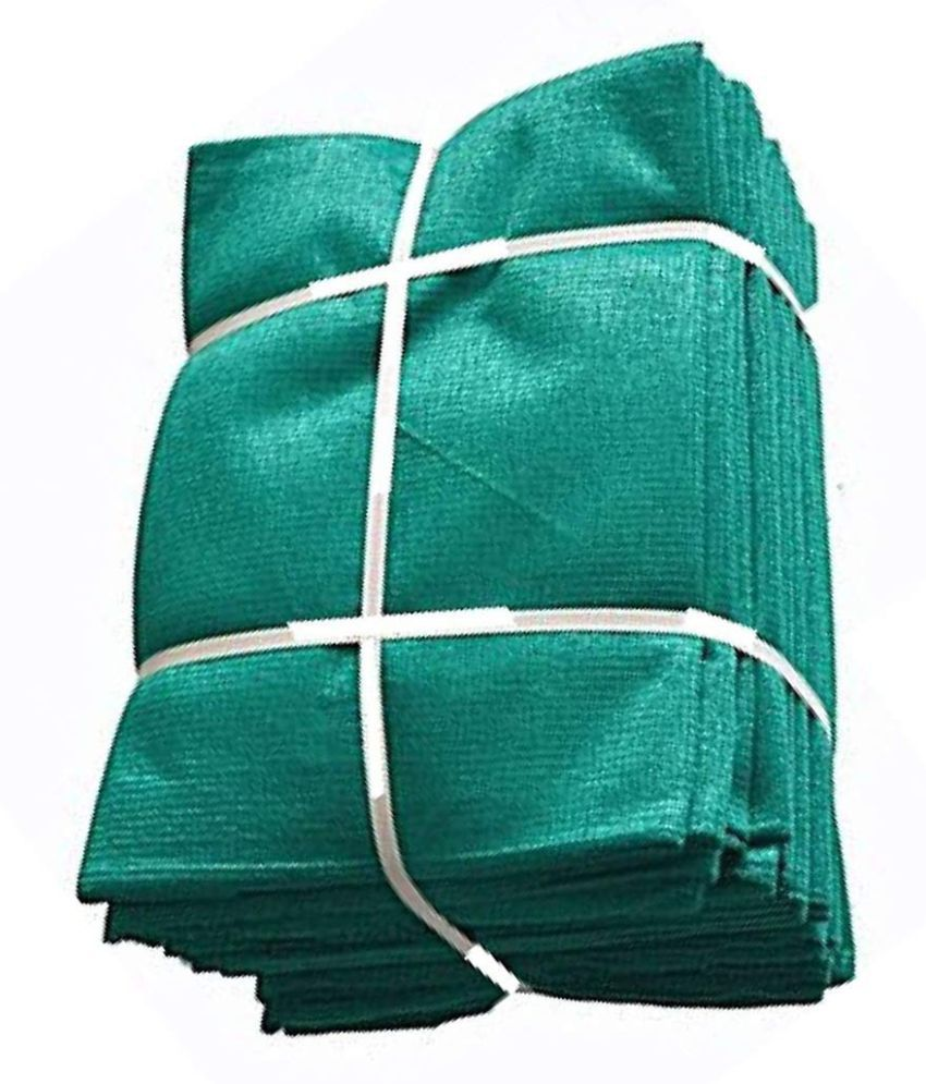 Sumanglam Stitched Green Net Ready To Use (6*15 feet)