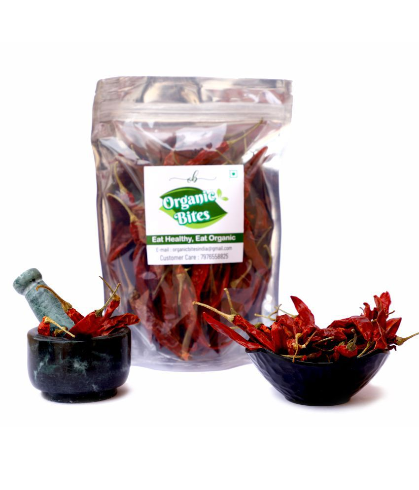 Organic Bites Whole Red Chilly 200 gm