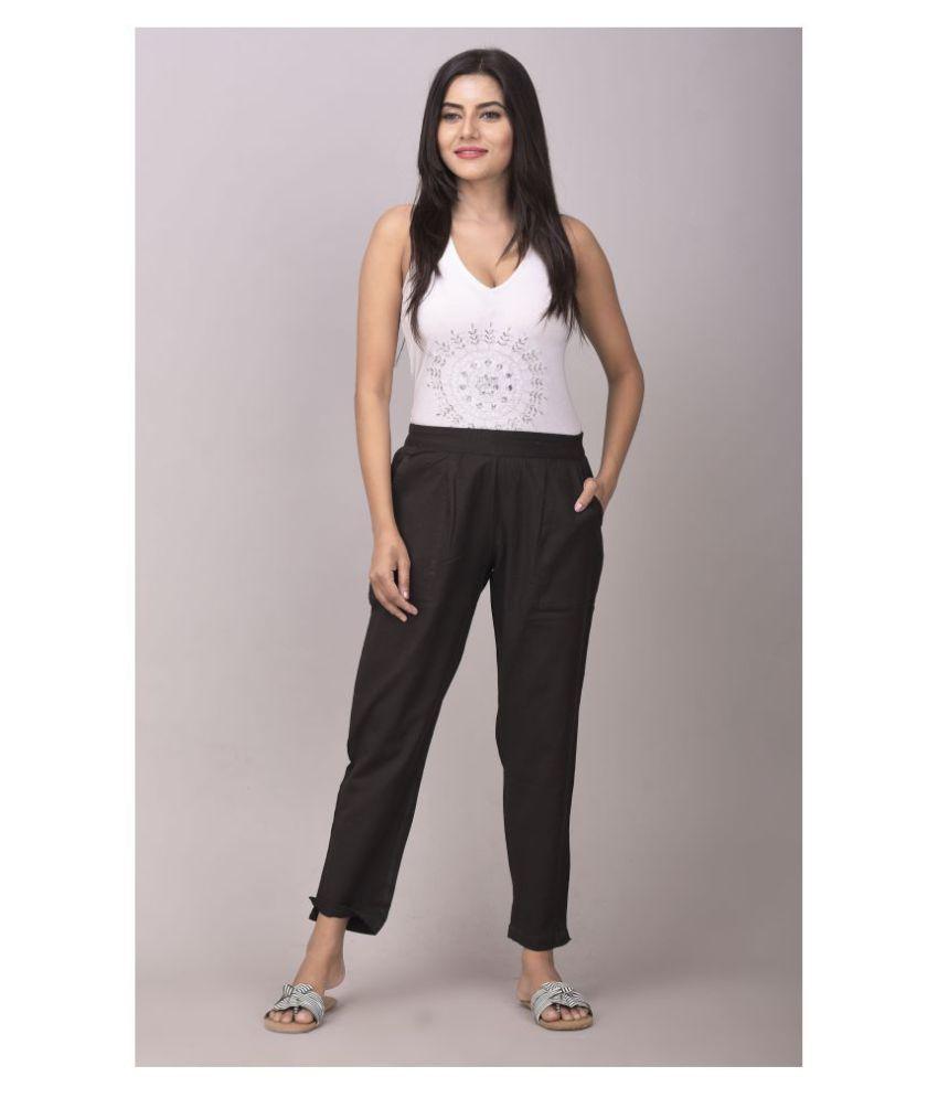 Alexa eva Cotton Cigarette Pants - Single