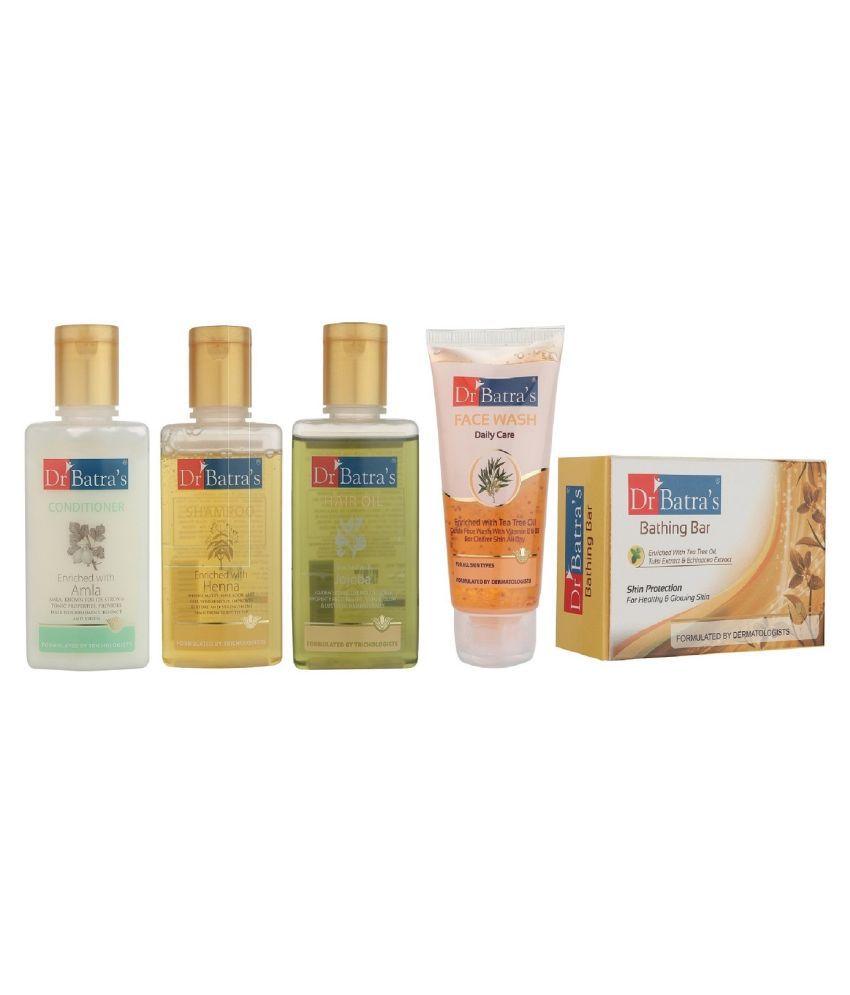 Dr Batra's Complete Bath Care Kit (Set of 5)