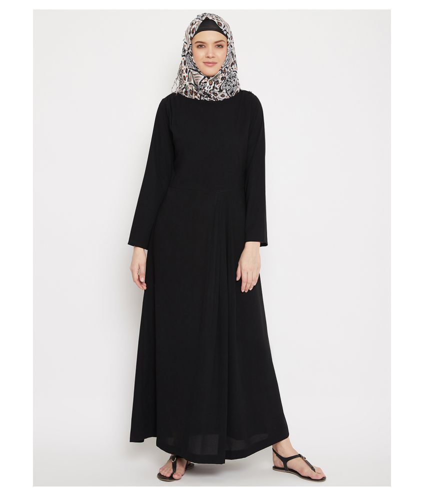 Momin Libas Black Polyester Stitched Burqas without Hijab - Single