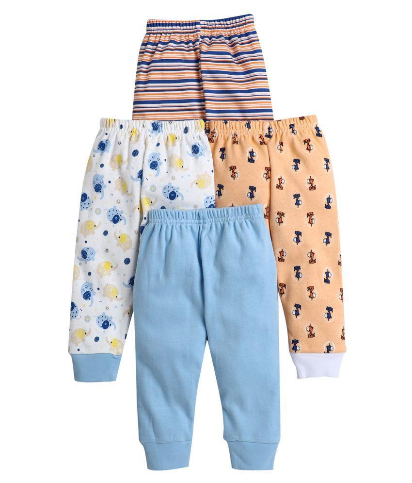 BUMZEE Blue.Orange Printed Pajamas For Baby Boys Pack Of 4