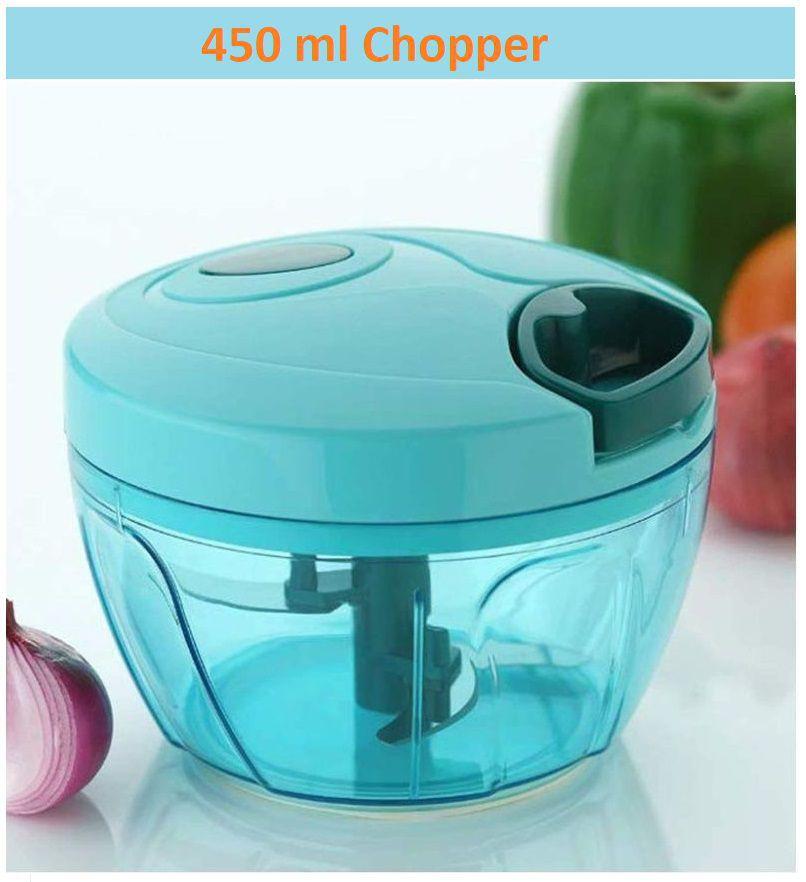 Plastic Quick Cutter, Vegetable Cutter, Handy Chopper-450 ml