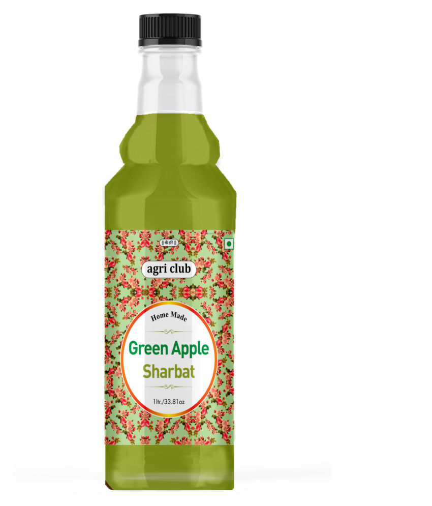 AGRI CLUB Green Apple Sharbat 1 L