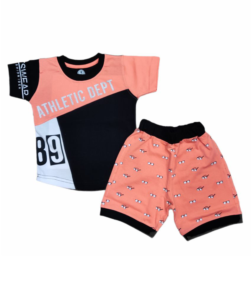 Cot-n-Tales Kids Printed Cotton T-shirt with Shorts