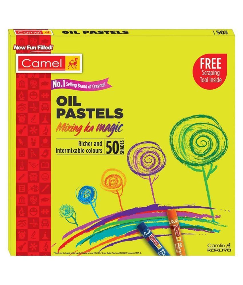 Camlin Kokuyo Oil Pastel (50 Shades)