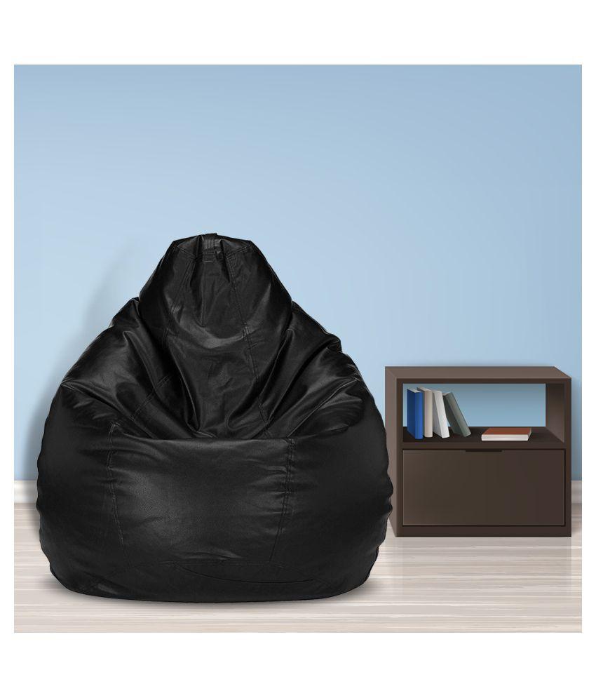 SHIRA 24 XXXL Teardrop Bean Bag Cover (Without Beans) (Black)