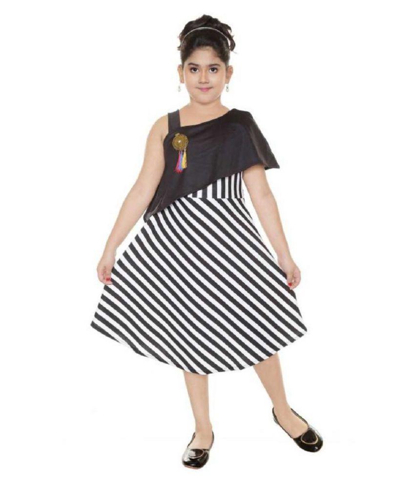 digimart Girls Midi/Knee Length Party Dress  Black, Fashion Sleeve