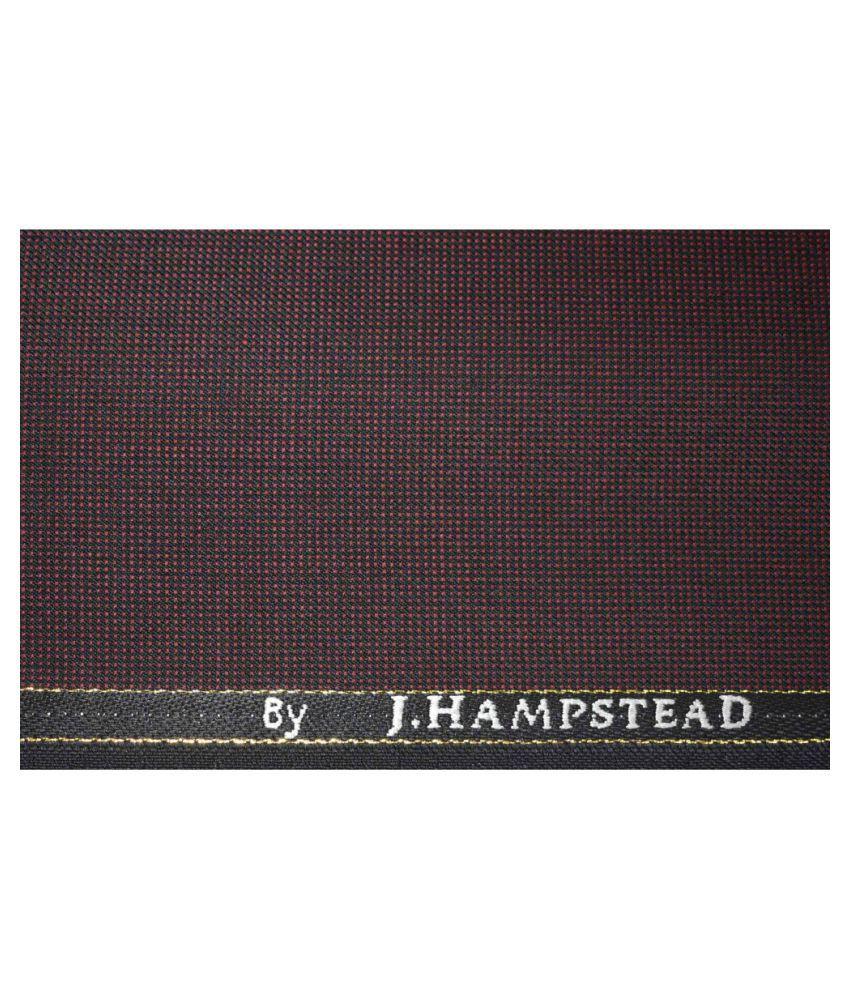 J Hampstead Brown Woollen Unstitched Pant Pc