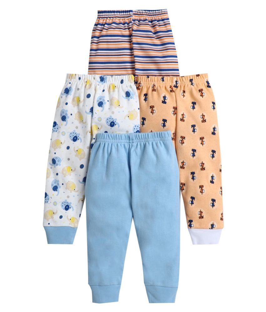 Hopscotch Baby Boy Cotton All Over Printed Pants Pack Of 4 in  Color For Ages 12-18 Months (BUV-3691684)