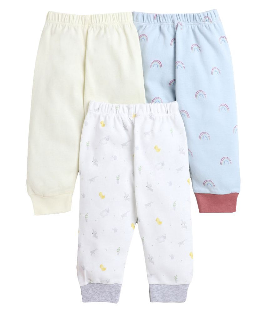 Hopscotch Baby Boy Cotton Jogger With Rib Pack of 3 in  Color For Ages 12-18 Months (BNC-3693438)