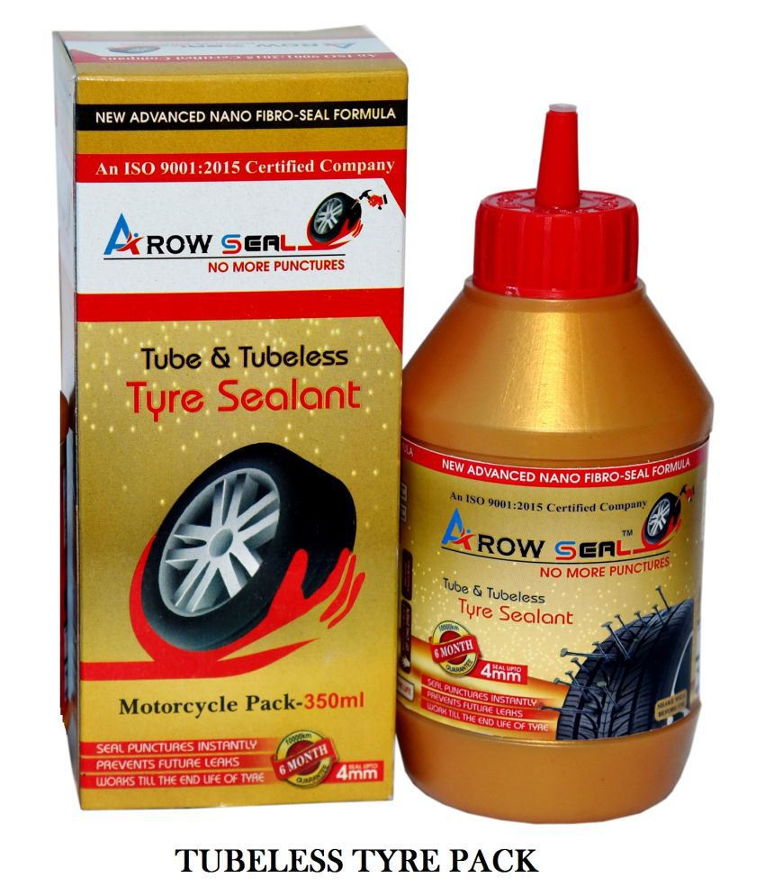 Arowseal Tyresealant (Liquid Latex Rubber) For Tube & Tubeless Tyres Tubeless Tyre Puncture Repair Kit 5 - 10 Strips