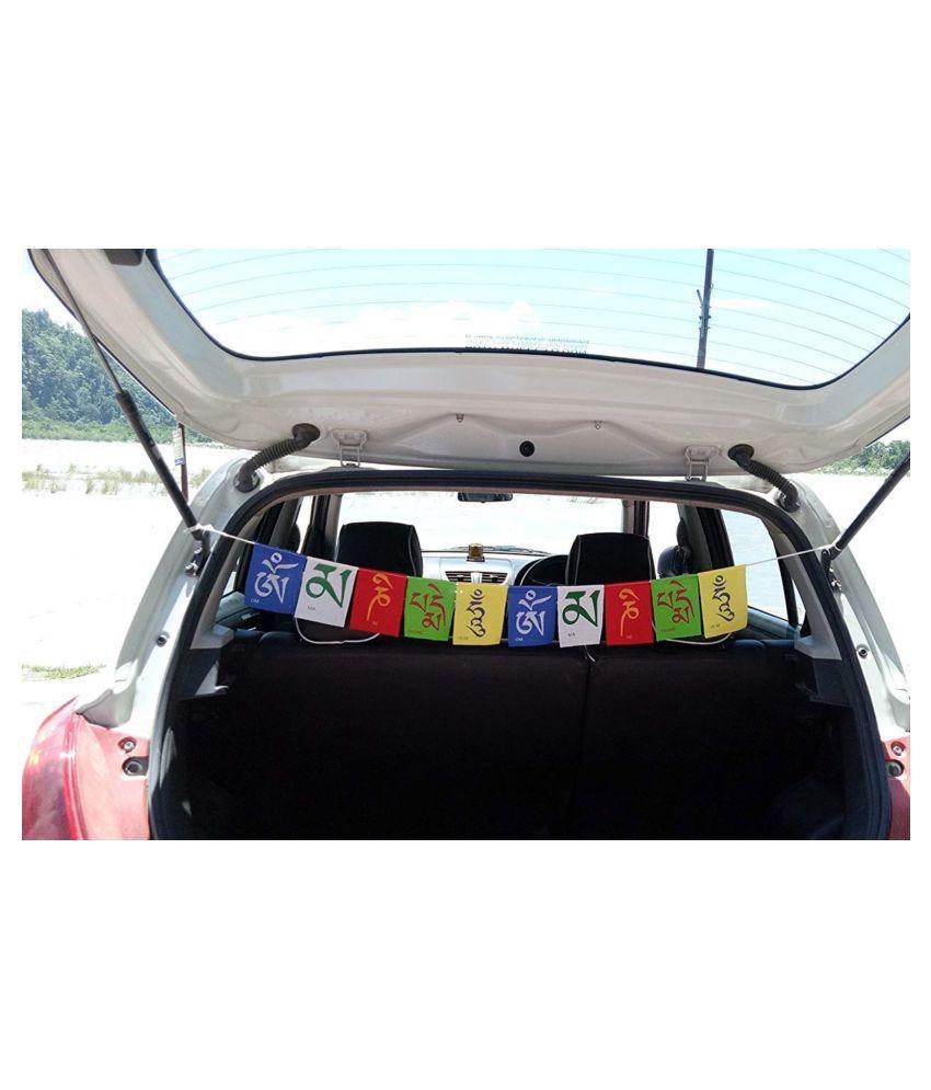 GENXTRA Prayer Flags In Car Decor Multicolour