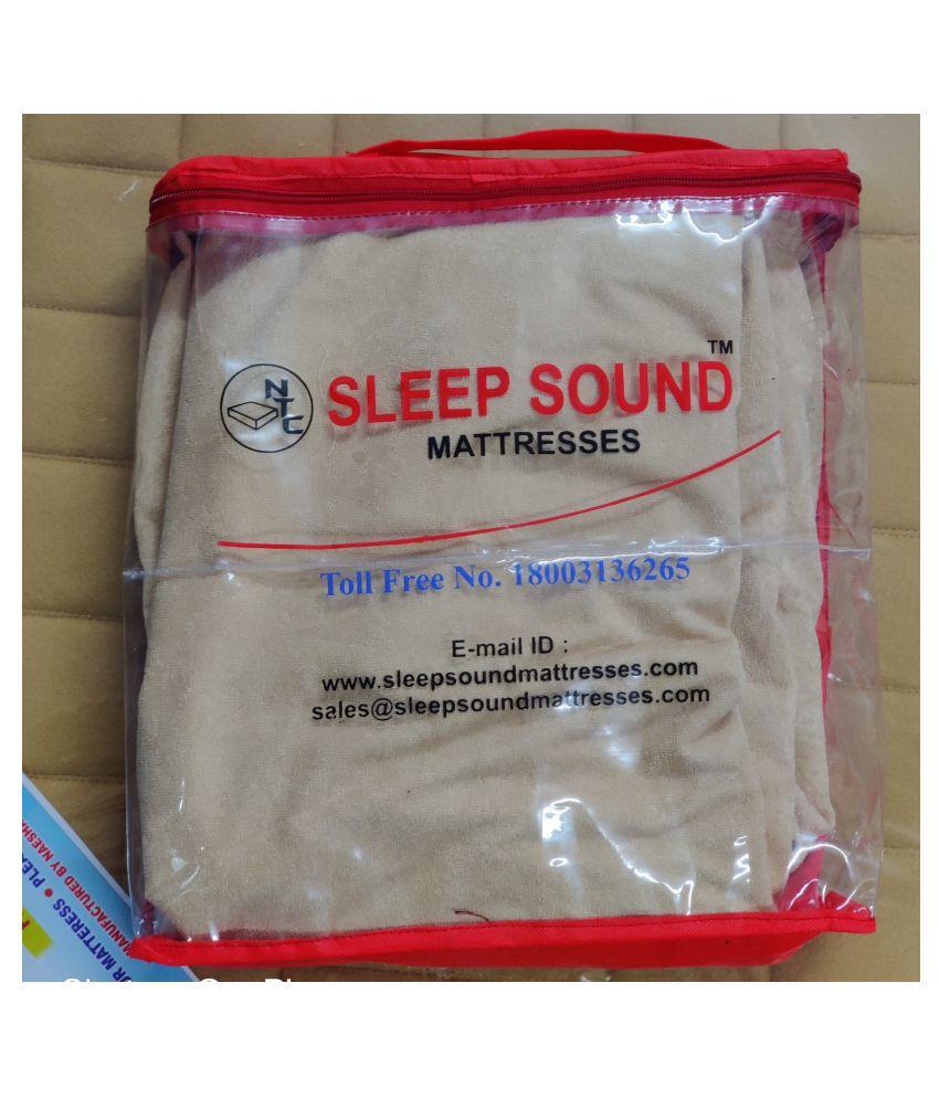Sleep Sound Mattresses Beige Poly Cotton Mattress Protector