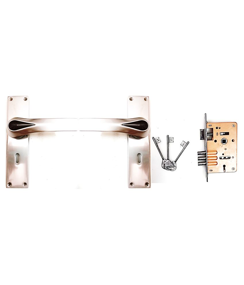 with This GEDORE Handle Lock The Door CAN BE Opened and Shut by Pushing The Handle. IT HAS Warranty of 1 Year from Date of Purchase . IT Contains Two Handles and ONE Machine with Three Keys.