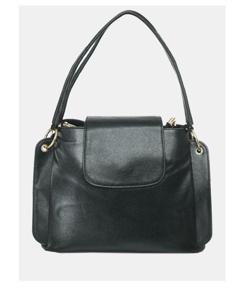 Kastner Black Artificial Leather Hobo Bag