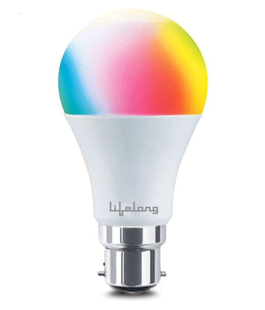 Lifelong 9Watt WiFi Enabled Smart LED Bulb Compatible with Amazon Alexa and Google Assistant (Screw-Type Bulb) - 16 Million Colors , Shades of White(Pack of 1)