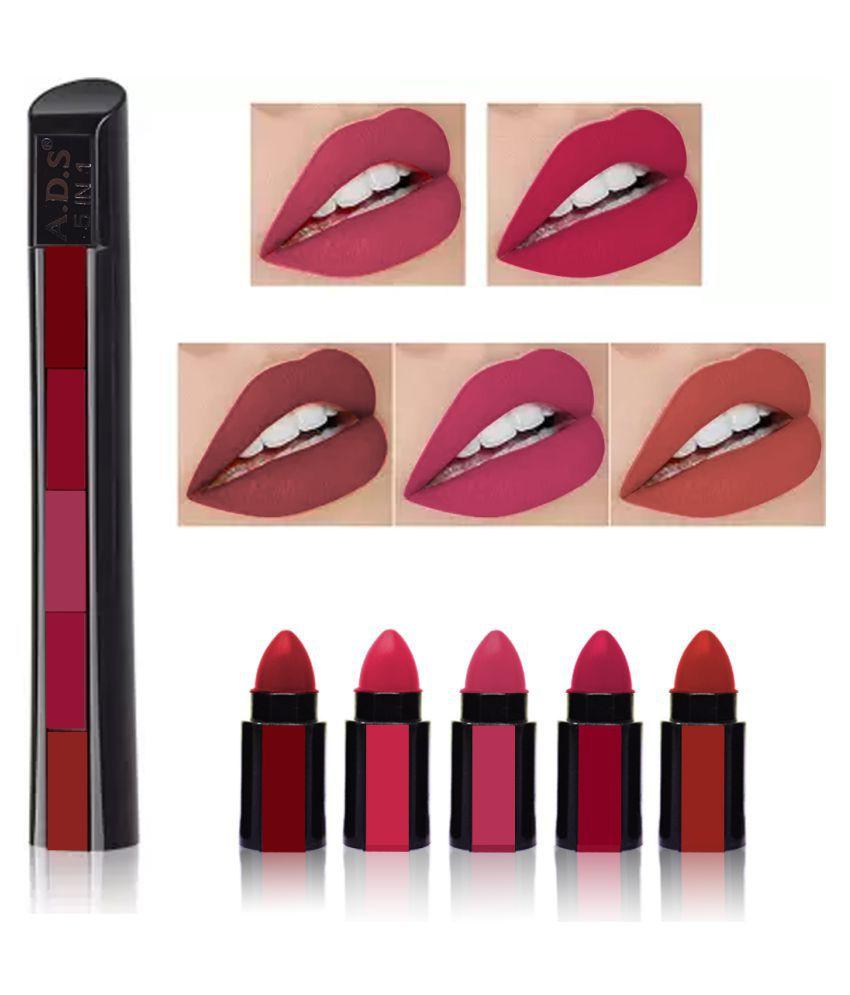 ADS 5in1 Matte Mini Girls Lipstick Multi 7.5 g