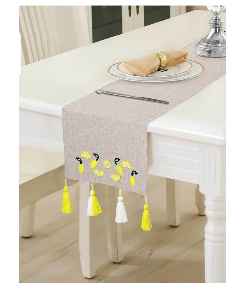mezposh 4 Seater Cotton Single Table Runner